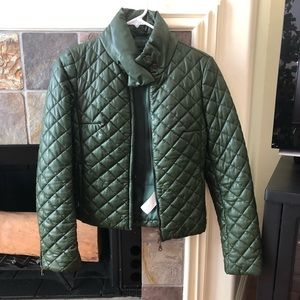 Dark green, quilted jacket from Benetton